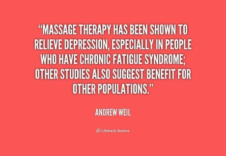 massage depression